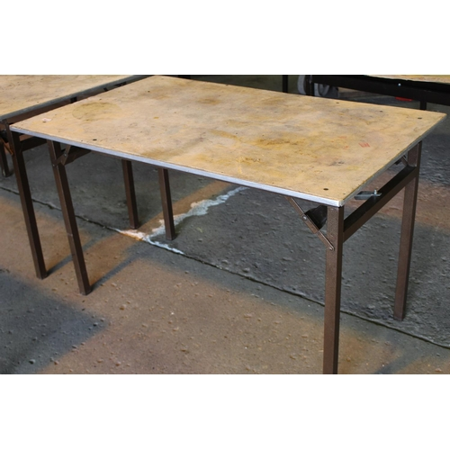 54 - 2'6 X 4FT FOLDING BANQUET TABLE...