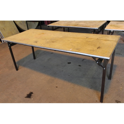 57 - 2'6 X 6FT FOLDING BANQUET TABLE...