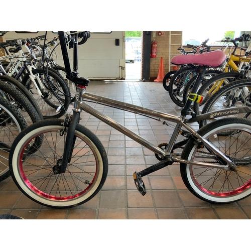 50 - (8491) CHROME/PINK BMX BIKE...