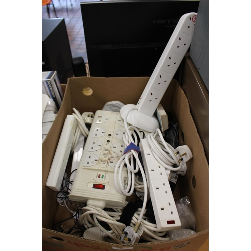 2 - BOX OF EXTENSION LEADS...