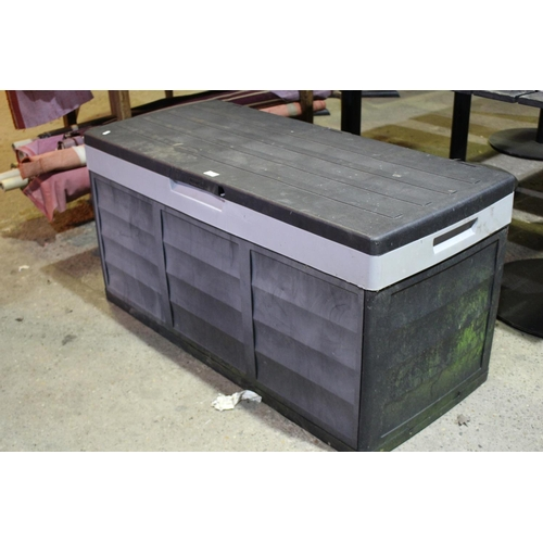 59 - PLASTIC GARDEN STORAGE BOX...