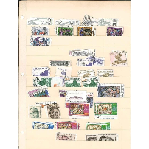 162 - Israel; big old stockalbum with duplicated used (smaller numbers of mint) stock up to about 1980s. (...