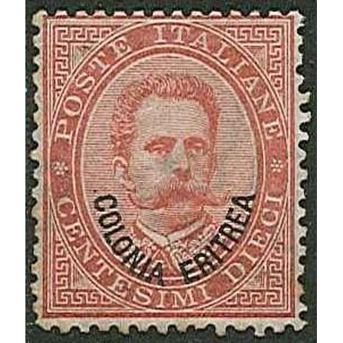 163 - Italian Colonies; Eritrea; 1893 opt. on Italian 10c mounted mint, some toning at edges. SG 4 cat.£15...