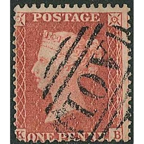 "165 - Jamaica; UK penny red (wmk. Large Crown, perf.14) fine used with ""A01"" cancel, blunt corner. SG Z12 ..."