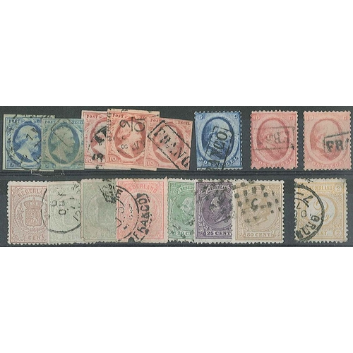 177 - Netherlands; 1852-63 5c (2), 10c (3), 1869-76 and 1872-91 odds, mixed used condition, poor to fine. ...