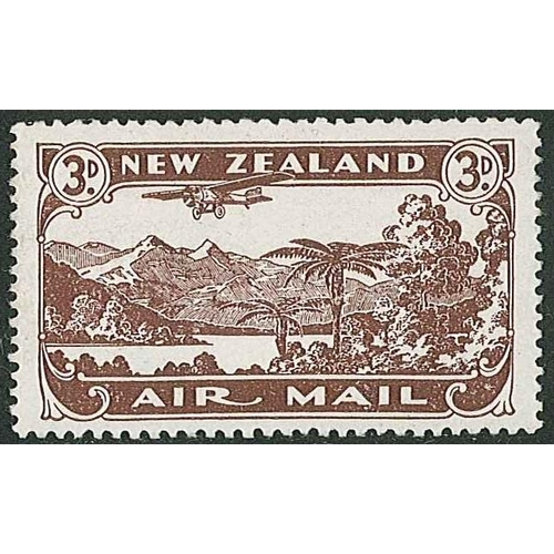 180 - New Zealand; 1931-35 Air 3d perf.14x15 l.m.m. with a horizontal bend (not quite a crease), SG 548a c...