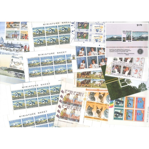189 - New Zealand; 1964-89 seln. of Health m.s. Includes 1964 pair of m.s. in original printed cellophane ...