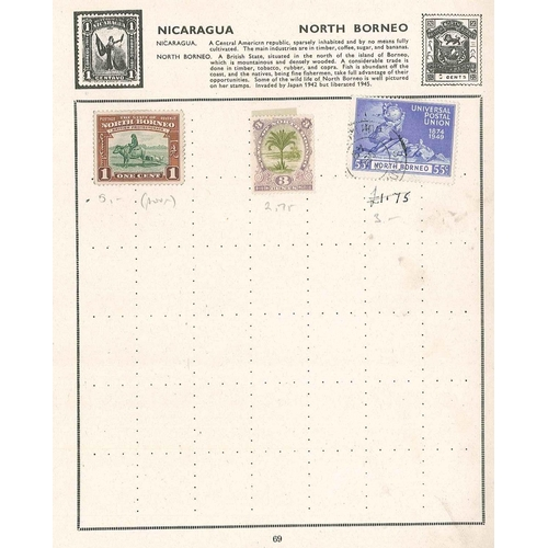 198 - North Borneo; 1894 3c m.m. (SG 70 cat.£2.75), and two others....
