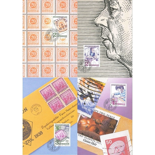 209 - Sweden; 1986 (January) Stockholmia (stamps) set of four maximum cards....