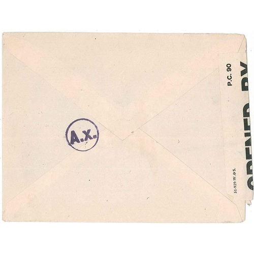 """71 - Algeria; 1943 cover to Red Cross Committee in Geneva, with British censor label, and """"A.x."""" in circl..."""