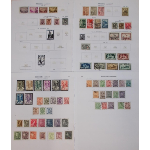83 - Belgium; 1849-1938 colln. on a few printed pages, mostly used. Includes a few better e.g. 1914 Red C...