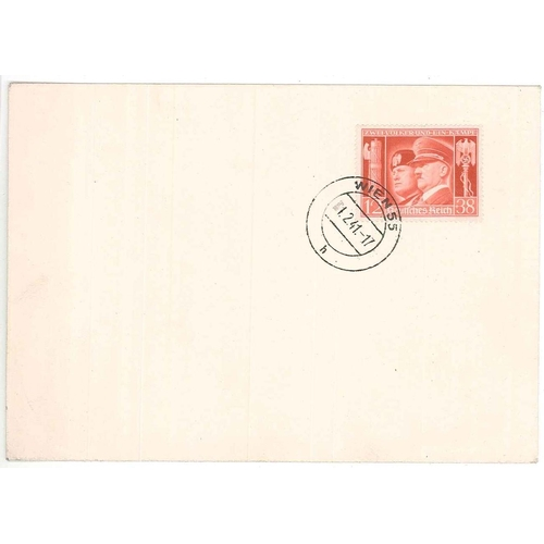 119 - Germany; 1941 plain unaddressed cover with 1941 Hitler's Culture Fund 12+38pf cancelled Vienna 1.2.4...
