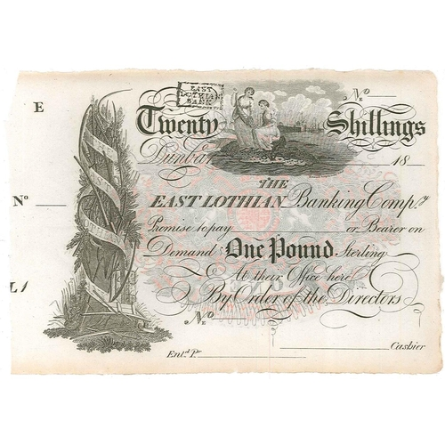 121 - Banknotes; Scotland; East Lothian Banking Company; c.1819 £1 note unissued (no dumber, date, or sign...