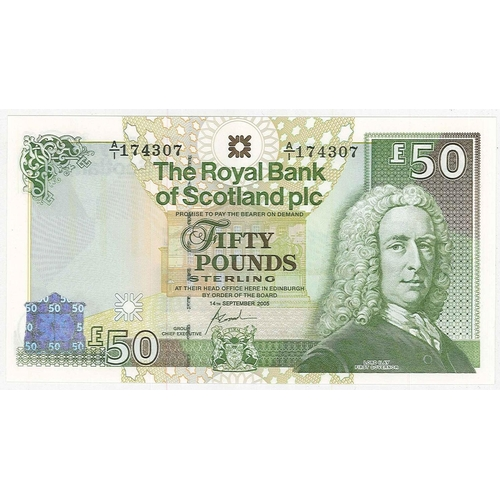 131 - Banknotes; Scotland; Royal Bank of Scotland; 2005 (14 Sep.) £50 note, unc. PMS RB107 cat.£100....