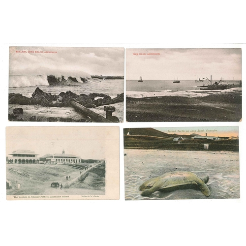 173 - Postcards; Ascension; fourteen different older unused cards (1900s-20s ?), nine of these being from ...