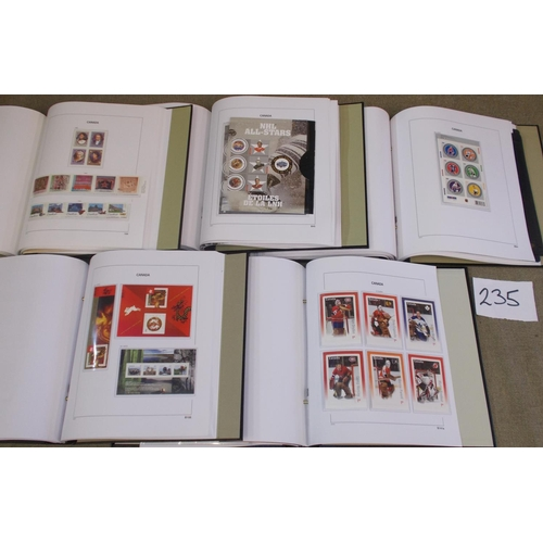 235 - Canada; 1980-2015 colln. of unmounted mint in five SG/Davo hingeless albums, a fairly complete run w...