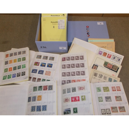 26 - Collections and Mixed Lots; Shoebox with 23 remaindered club books of European origin with much Euro...