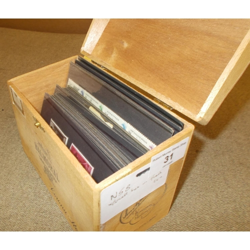 31 - Collections and Mixed Lots; Small box with stockcards of world, with Italy 1920s/30s m. & u., other ...