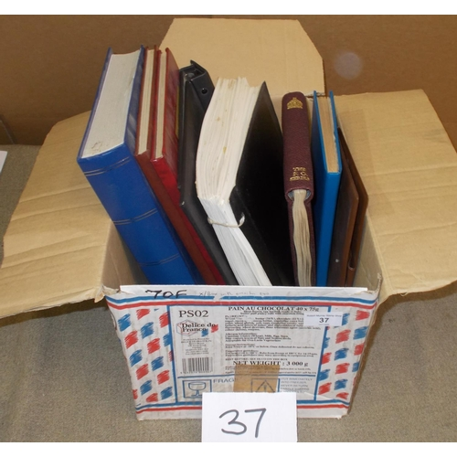 37 - Collections and Mixed Lots; Box with omnibus albums/stockbooks (1945-46 Victory m.m./u. with some st...
