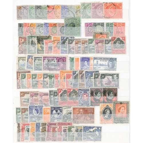 380 - Kenya, Uganda and Tanganyika; 1922-73 used range on stockleaves, the highest value in the KG5 to ear...