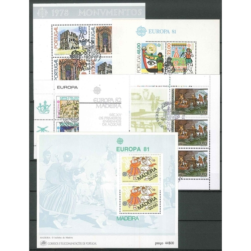 70 - Collections; Europe; 1978-94 seln. of miniature sheets c.t.o. comprising Monaco (6, plus 1 u.m.), Po...