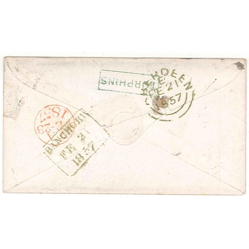 571 - Scottish Covers and Postal History; 1857 cover (with contents) Torphins to London with Penny Red sta...