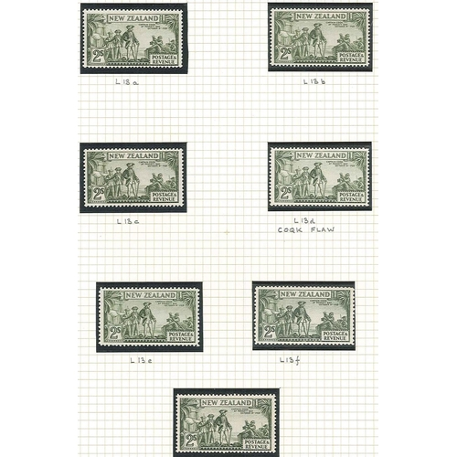 437 - New Zealand; 1935-36 and 1936-42 specialised coll. of pictorial defins on pages marked up with CP no...