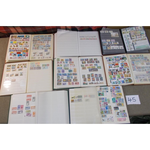 45 - Collections; Commonwealth; seventeen stockbooks with a collection of new issues c.1960-86, much of i...