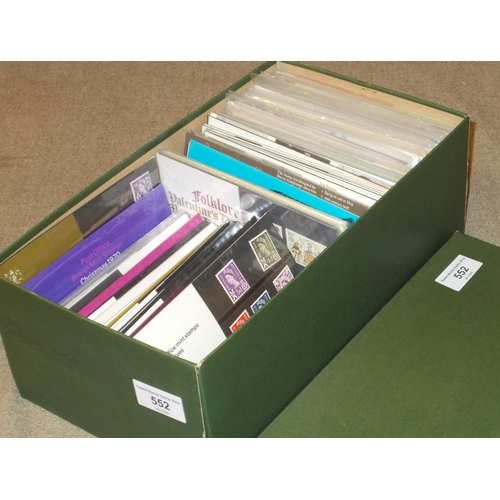 552 - U.K.; Presentation Pack Collections; shoebox of packs roughly 1966-81 (c.110)...
