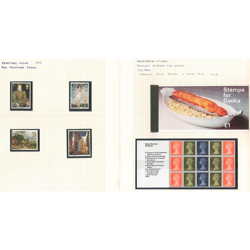 525 - U.K.; 1968 Paintings set (4) with missing phosphor u.m., cat.£38½. Also 1969 Stamps for Cooks £1 boo...