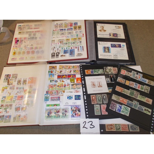 23 - Collections and Mixed Lots; A folder of Earlier USSR 1923-43, a stockbook of 1960s Soviet covers, a ...