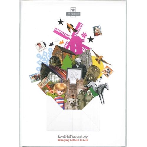 548 - U.K.; Year Packs; 2017 yearpack, face value £132....