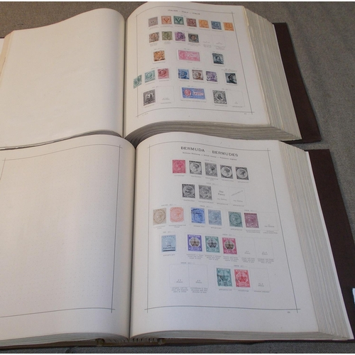 2 - Two large and heavy albums – Senf's Illustrated Permanent Album dated 1911 with world range of more ...
