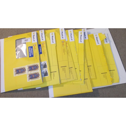 203 - Austria; 2003-7 bundle of new issues as received from philatelic bureau, with order for 1 each mint ...