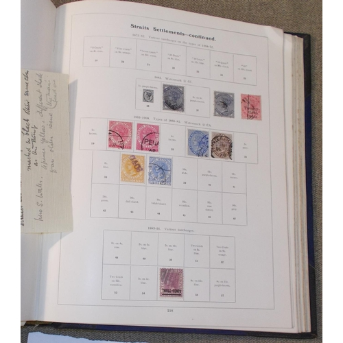 48 - Collections; Commonwealth; attractive old Whitfield King Standard album with pages up to 1902 but so...