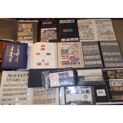 602 - United Kingdom Collections and Mixed Lots; box with 2 stockbooks/binders of mint decimal/pre-decimal...