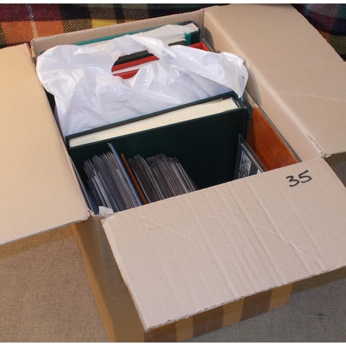 35 - Collections and Mixed Lots; Four assorted albums/stockbooks of world stamps inc. UK decimal mint, u....