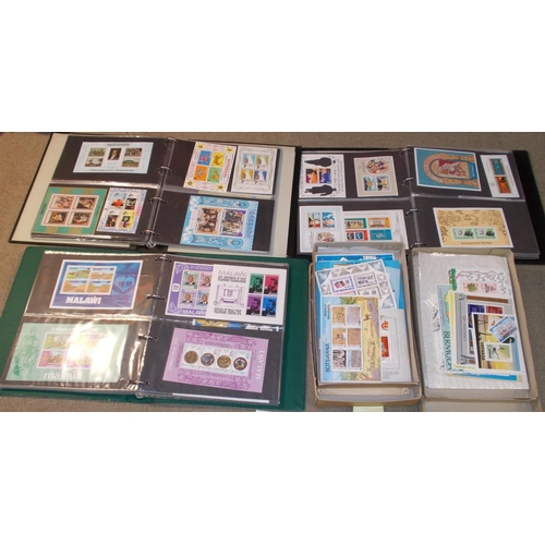 61 - Collections; Commonwealth; Miniature Sheets; three albums plus other in packets of u.m. miniature sh...
