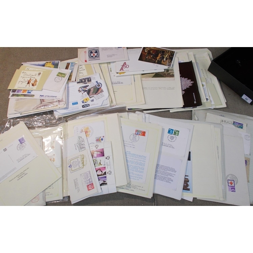 80 - Collections; Thematic; Scotland; two flat boxes with a bundle of Scottish-related album pages with B...