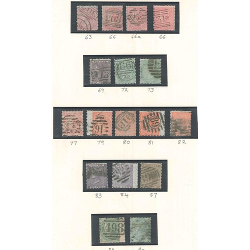501 - U.K.; 1855-73 small colln. of used surface-printed issues on three pages, comprising 3d (10), 4d (18...