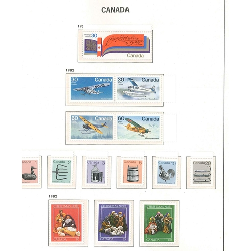 230 - Canada; 1908-89 collection in Davo hingeless album. Up to c.1951 is mixed used/m.m./l.m.m./u.m. and ...