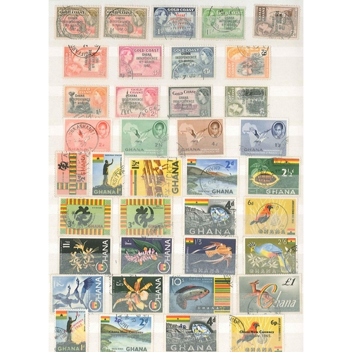 24 - Collections and Mixed Lots; Stockbook of world stamps inc. Middle East, Africa, Asia, etc. with some...