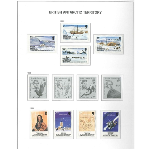 60 - Collections; Commonwealth; Antarctic; u.m. (just a few seen m.m.) collection in Davo hingeless album...