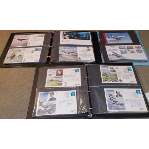 87 - Collections; Covers; Aviation; two binders of RAF Museum covers (UK and Islands), one signed by Leon...