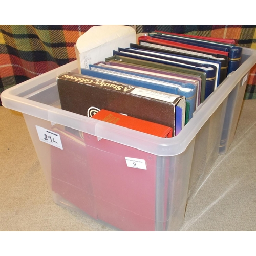 9 - Collections and Mixed Lots; Heavy tub with 5 albums of UK inc. some decimal mint, 3 albums of Common...