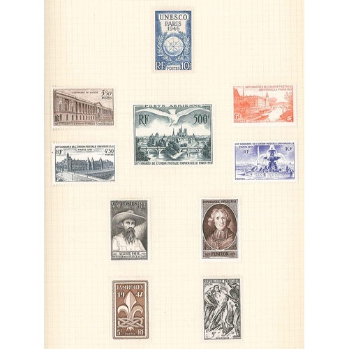 293 - France; an album of mostly m.m. 1917-78 but inc. a few early used, with many better from 1923 War Or...