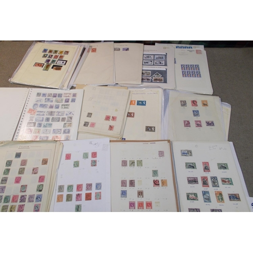 56 - Collections; Commonwealth; bag of album leaves/stockleaves etc. (c.6cm thick) with wide range of cou...