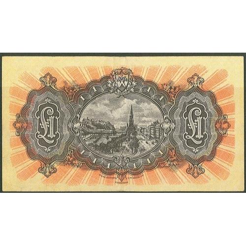 60 - Banknotes; Scotland; National Bank of Scotland; 1956 (3 Jan.) £1 note, serial no. B/N990-454, VF/EF ...