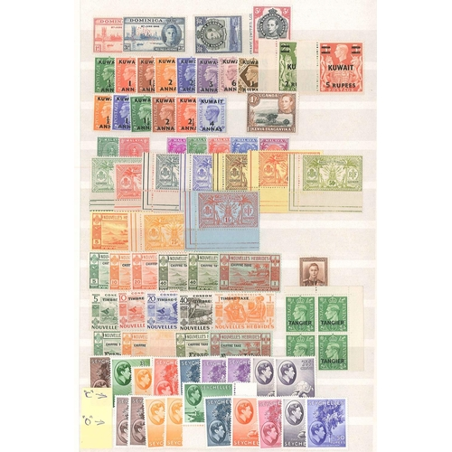 19 - Commonwealth; valuable range of King George VI unmounted mint on stockleaves, with singles and a few...