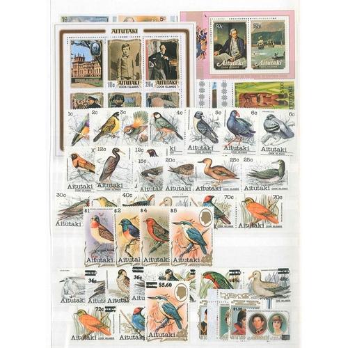 22 - Commonwealth; modern mint (apparently all u.m.) selection of Aitutaki, Alderney, Anguilla, Antigua, ...